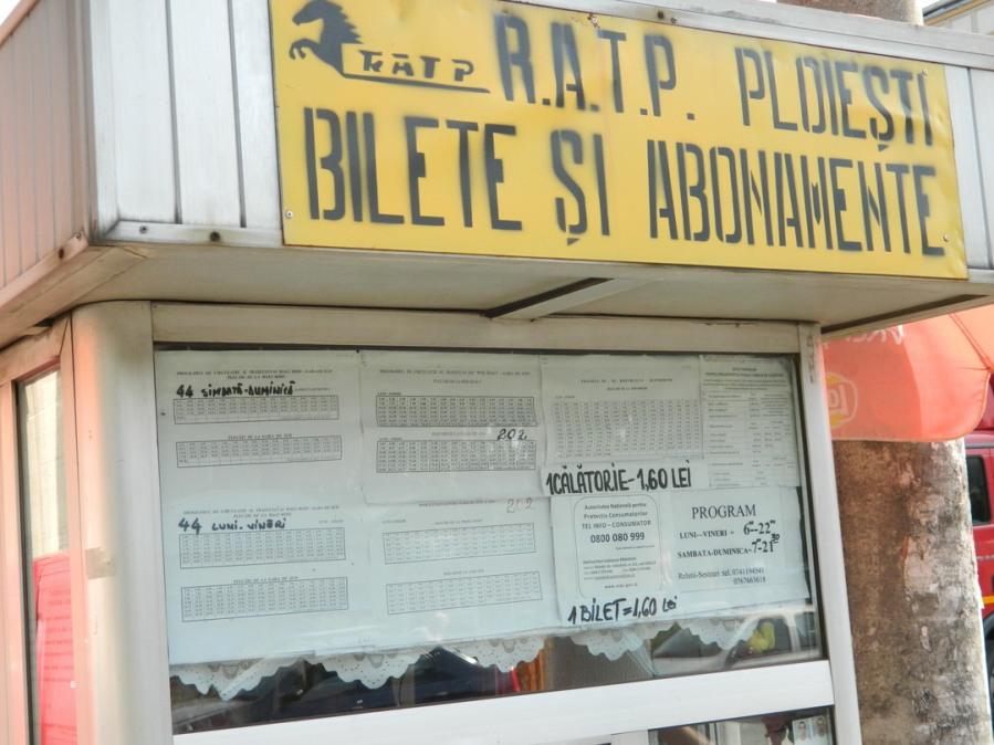 INFORMATII PE UN CHIOSC RATP